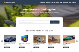 WordPress Auction Theme save up to 35% off discount coupon code